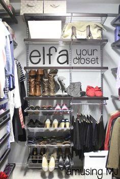 Elfa For Your Closet! | Www.amusingmj.com