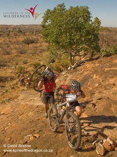 Stunning slick-rock riding in Botswana's Tuli area