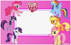 My Little Pony: Invitaciones para Imprimir Gratis.