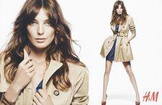 H&M  Autumn/Winter  2010 raincoat brunette on white