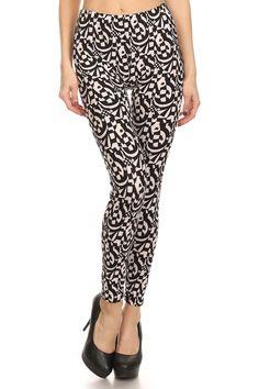 Always Women's Black and White Printed Patterned Leggings