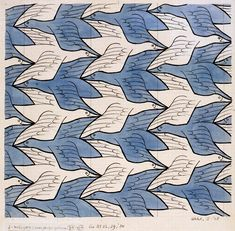 17 June we celebrate the birth of M. C. Escher, born 1898. Escher tessellated us for the last time in 1972.