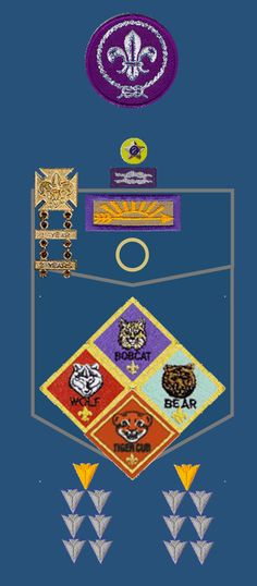 Cub scout patches on uniforms