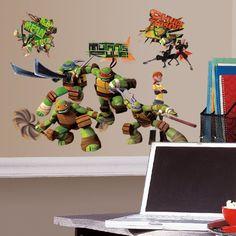 Roommates Teenage Mutant Ninja Turtles Peel And Stick Wall Decals Just $9.99!