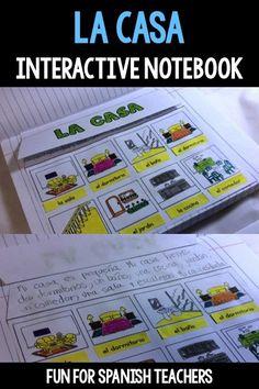 Spanish Lessons For Kids, Spanish Teaching Resources, Primary Teaching, Spanish Activities, Teaching Ideas, Spanish Interactive Notebook, Interactive Journals, Bilingual Classroom, Spanish Classroom