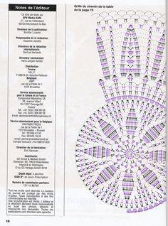 Схема к овальной салфетке. часть 1 - центр.