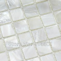 Shell square tile the Kitchen Backsplash tiles pool floor bath wall mesh mounted discount white Mother of Pearl Tiles on sale