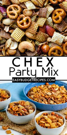 Our Chex Party Mix recipe can be made ahead of time, stores well, you can easily customize it to your preferences, and is budget-friendly. For more crowd pleasing recipes follow Easy Budget Recipes! Savory Snacks, Easy Snacks, Healthy Snacks, Yummy Appetizers, Appetizer Recipes, Snack Recipes, Budget Recipes, Budget Meals, Chex Party Mix Recipe