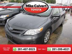 2012 Toyota Corolla LE 49k miles $12,191 49385 miles 281-407-9523  #Toyota #Corolla #used #cars #MikeCalvertToyota #Houston #TX #tapcars