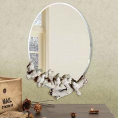 Free shipping The European waterproof birds mirror retro fashion decorative wall mirror