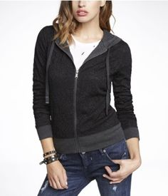 LACE ZIP-UP HOODIE | Express