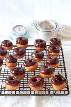{tiny little chocolate/honey glazed donuts}