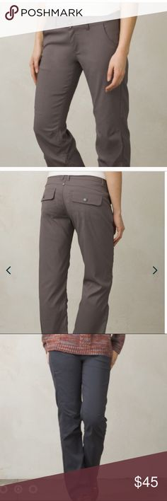 """prAna Halle Pant -New w/o Tags prAna Halle Pant- New! Tags have been removed, please see photo 6 for item description. Size 10, inseam is 31"""", color is moon rock (charcoal gray). No trading please! Thank you! Prana Pants"""