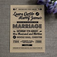 Retro wedding invitation from Project Pretty | Photo 9