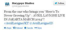 Belum selesai tahun 2013 ini akan gempuran musisi manca yang menggelar tur ke Indonesia, tahun depan sudah ada jadwal yang muncul. Avril Lavigne akan menggelar konser lagi di Indonesia.