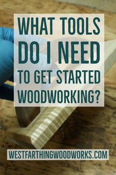 Learn Woodworking What tools do i need to get started woodworking? This post will help you figure out that you need as a new woodworker. It's much easier than you think. Cool Woodworking Projects, Learn Woodworking, Woodworking Patterns, Woodworking Classes, Popular Woodworking, Woodworking Videos, Woodworking Furniture, Diy Wood Projects, Woodworking Plans