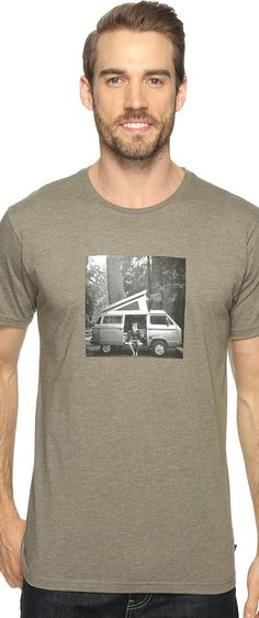 Mountain Hardwear A Man and His Van Tee (Heather Stone Green) Men's T Shirt - Mountain Hardwear, A Man and His Van Tee, 1708291-399, Apparel Top Shirt, T Shirt, Top, Apparel, Clothes Clothing, Gift - Outfit Ideas And Street Style 2017