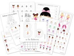 FREE printables! Ballerina themed for pre-school. Pretty nifty if you ask me!!