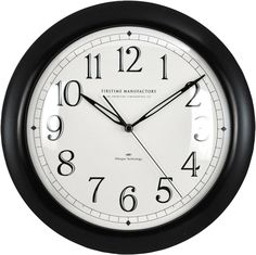 Features:  -Plastic.  -Requires 1 AA battery - Not included.  -One year warranty.  Product Type: -Analog.  Shape: -Round.  Primary Material: -Plastic.  Numbered Clock: -Yes.  Gender: -Neutral.  Life S