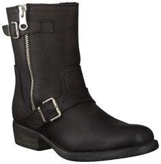 Zwarte Omoda korte laarzen R8068