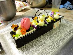 Easter Chocolate Mousse Bar by Pastry Chef Antonio Bachour (St Regis Bal Harbour). Dessert plate by Glass Studio