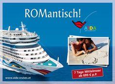 AIDA Cruises: Outdoor 2012 | Romantisch in Rom | By Smolej & Friends, Vienna | www.smolej.at Vienna, Friends, Cruise, Advertising, Creative, Movie Posters, Movies, Outdoor, Advertising Agency