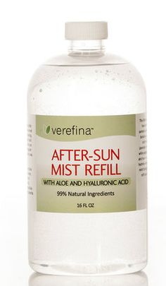 After-Sun Mist Refill~ This 16 oz. Refill is a family must-have during the summer months! It contains carefully chosen essential oils and botanical extracts that work together to soothe and repair sunburned skin. Also great as an overall skin refresher, makeup setting spray, acne buster, first aid spray, and more! This will refill your empty 4 oz. After-Sun Mist bottle 4 times - a savings of 34% per refill!