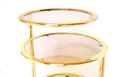 Hollywood Regency Brass Side Table by ErinLaneEstate on Etsy
