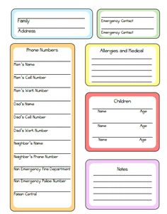 Nanny Tips and Printable! Nanny binder