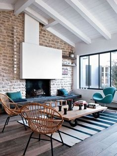 Industrial and cosy living room