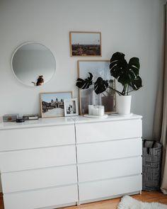 Cute Bedroom Ideas, Cute Room Decor, Room Ideas Bedroom, Home Decor Bedroom, Black Gold Bedroom, Ikea Bedroom White, Modern Room, New Room, Decoration