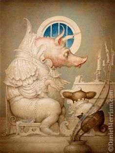 """An Ear For Music"" ~ Daniel Merriam ~ Watercolorist Extraordinaire ~ Miks' Pics ""Daniel Merriam ll"" board @ http://www.pinterest.com/msmgish/daniel-merriam-ll/"
