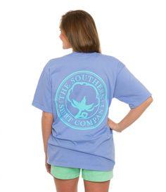 Carly Vneck S/s | Grape Mist | The Southern Shirt Company