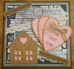 Kaartengalerij - Marianne Design New Home Cards, House Of Cards, Distress Oxides, Marianne Design, Stampin Up Cards, House Warming, Sweet Home, Card Making, New Homes