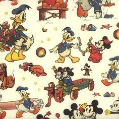 Mickey Mouse and Friends Italian Print Paper ~ Carta Fiorentina Italy