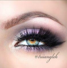 Purple smokey eyeshadow #eyes #eye #makeup #bright #dramatic
