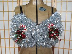 And, umm, uh, this: | 13 Ugly Holiday Sweaters That Are Almost Too Ugly To Wear Tacky Christmas Party, Best Ugly Christmas Sweater, Christmas Tinsel, Christmas Crafts For Gifts, Christmas Scenes, Holiday Fun, Holiday Sweaters, Christmas Outfits, Christmas Costumes