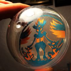 Papercut-King in transparent plastic ball. Paper Cutting, Snow Globes, Plastic, King, Home Decor, Decoration Home, Room Decor, Home Interior Design, Home Decoration