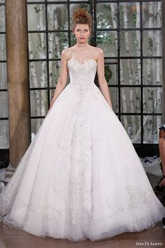 Ines di Santo Couture 2015 wedding dress | strapless sweetheart neckline beaded bodice bridal ball gown parma