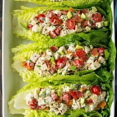 BLT chicken salad lettuce wraps