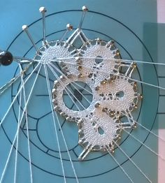 Online shopping from a great selection at Arts, Crafts & Sewing Store. Bobbin Lace Patterns, Bead Loom Patterns, Lace Earrings, Lace Jewelry, Hairpin Lace Crochet, Crochet Edgings, Crochet Motif, Crochet Shawl, Romanian Lace