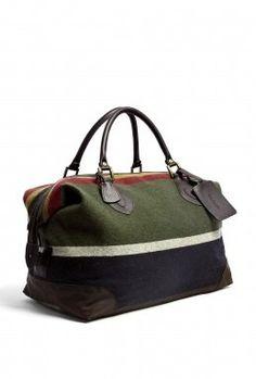 Fancy - Barbour   Striped Wool Medium Explorer Weekend Bag by Barbour