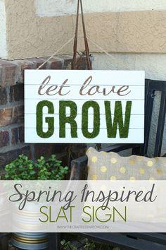 Spring Inspired Slat Sign #chalkyfinish #decoartprojects