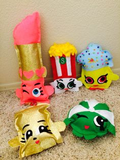 DIY felt Shopkins plushies