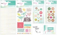 Dear Lizzy 5th & Frolic Buttons, Brads, Washi Tape, Alphas #StudioCalicoPinToWin