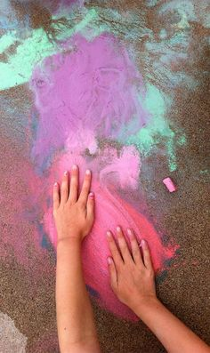 {Kids + Chalk = Fun} 5 Ways to take chalk to the next level. *These ideas are awesome. My favorite is the Sidewalk Angry Birds game.