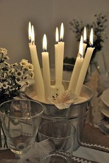 simple but elegant for outdoor parties, a beach themed wedding or even Christmas dinner!!
