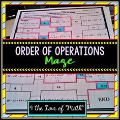 Order of Operation Maze Included in this product is an order of operation maze page and an answer key. Students must simplify 8 expressions using the order of operations in order to complete the maze.