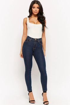 Product Name:High-Waist Skinny Jeans, Category:CLEARANCE_ZERO, Price:12.9