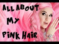 Idée Couleur & Coiffure Femme 2017/ 2018 : Pink Hair FAQ (Tips and Tricks!)  YouTube